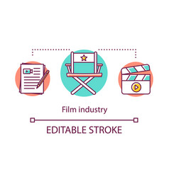 Film industry concept icon show business vector