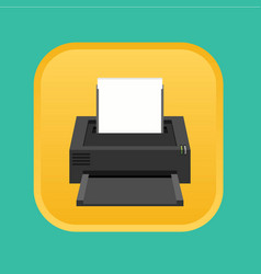 Flat printer icon vector