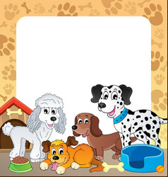 frame with dog theme 1 vector image
