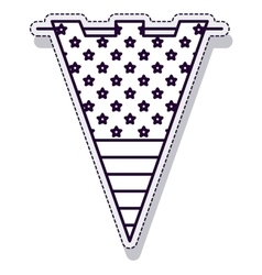 Garland triangle party indpendence day vector