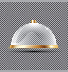 Glass dome on transparent background vector
