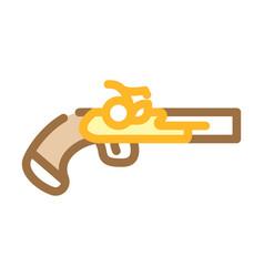 Gun weapon pirate color icon vector