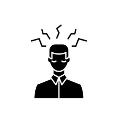 headache problem black icon sign on vector image