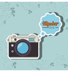 Hipster camera design vector