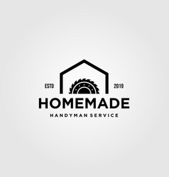 Home industry grinding craftsman handyman vintage vector