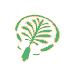 icon hand drawing palm tree artificial island vector image