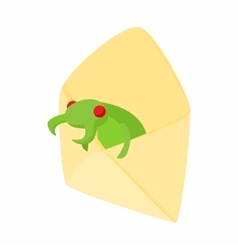 Infected email icon cartoon style vector image