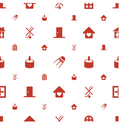 Inside icons pattern seamless white background vector