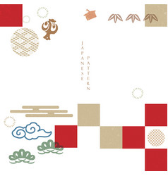 Japanese pattern with geometric background asian vector