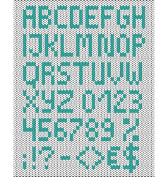 Knitted uppercase english alphabet vector image