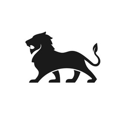 lion logo on white background vector image