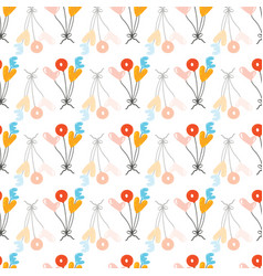 lovely childish seamless pattern with love balloon vector image
