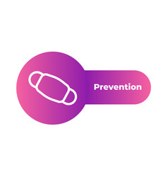 medical mask icon isolated prevention concept vector image