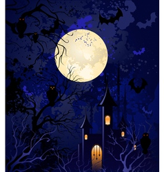 Moonlit night on halloween vector