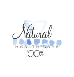 Natural health care beauty promo sign vector
