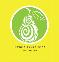 Nature fruit shop logo vector