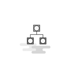 networks web icon flat line filled gray icon vector image