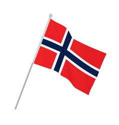norway national flag vector image