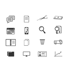Office and Business Icons set vector image