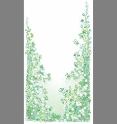 pale greenery vector image