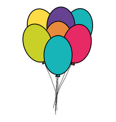 party balloons helium floating vector image