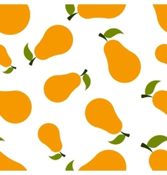 Pattern Silhouette Pears vector image