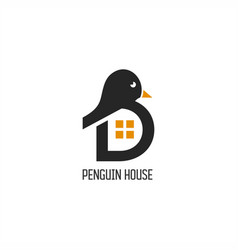 penguin house logo vector image