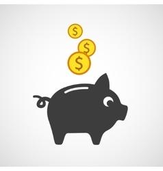 Piggy bank icon vector