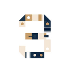 pixel art number nine colorful number 9 consist vector image