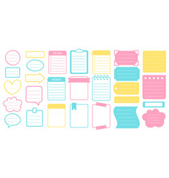 Planner stickers and frames set sticker vector