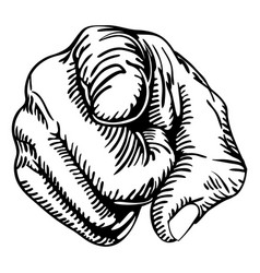 pointing the finger vector image