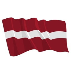 Political waving flag of latvia vector