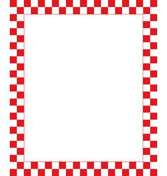 Red checkered frame - design element for christmas vector