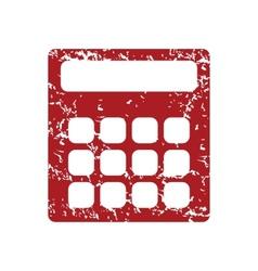Red grunge calculator logo vector