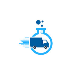 Research delivery logo icon design vector