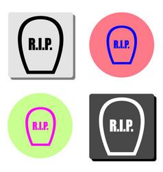 rip flat icon vector image