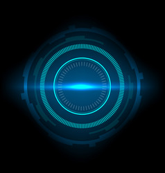 sci-fi futuristic interface abstract technology vector image