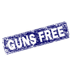 Scratched guns free framed rounded rectangle stamp vector