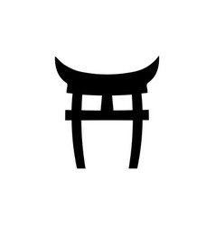 shninto symbol japan gate torii gate icon vector image