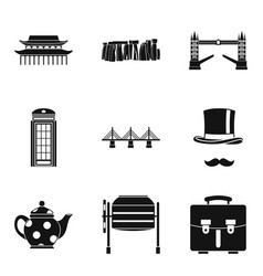 Showplace icons set simple style vector
