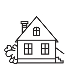 Sket one house House dwelling symbol vector image