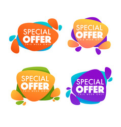 Special offer big sale collection of bright vector