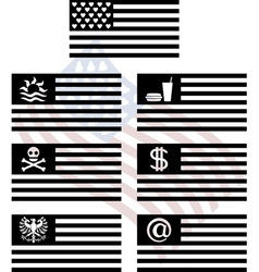 Stencils of fantasy usa flags vector