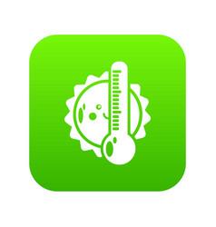summer icon green vector image