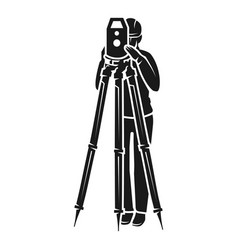 Surveyor view from the front icon simple style vector