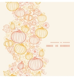 Thanksgiving line art pumkins vertical frame vector