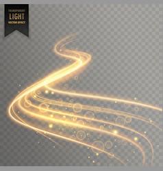 Transparent light effect trail background vector