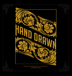 vintage logo luxury perfect hand drawn vector image