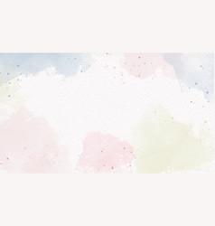 Watercolor pastel color splash on paper background vector