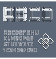 White alphabet letters and numbers vector image